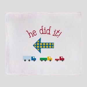 he did it! Throw Blanket