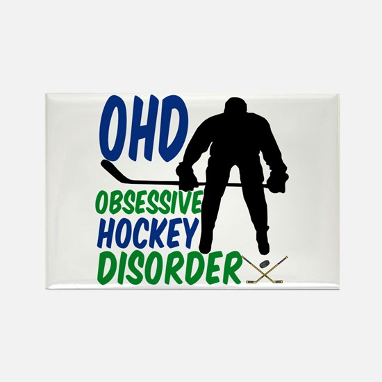 Hockey Humor Rectangle Magnet