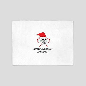 MERRY CHRISTMAS ARRRRR? 5'x7'Area Rug