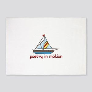 poetry in motion 5'x7'Area Rug