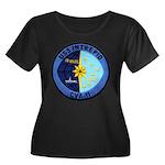 USS INTR Women's Plus Size Scoop Neck Dark T-Shirt