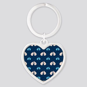 Blue and Tan Chevron Boxing Keychains