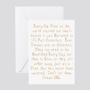 Foundation day greeting cards cafepress nurture your dreams greeting cards m4hsunfo