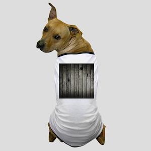 Dark Creepy Wood Panels Pattern Dog T-Shirt