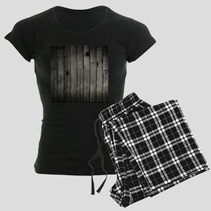 Dark Creepy Wood Panels Pattern Pajamas