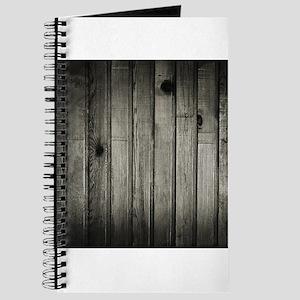 Dark Creepy Wood Panels Pattern Journal