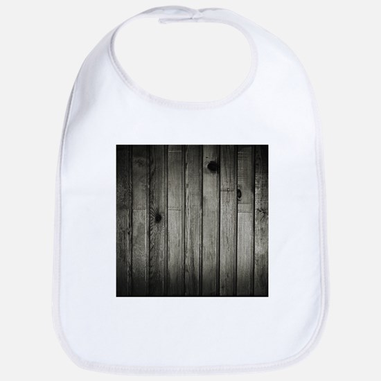 Dark Creepy Wood Panels Pattern Bib