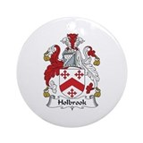 Family crest holbrook Round Ornaments