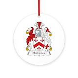 Family crest holbrook Porcelain Ornaments