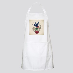 carpe diem bluebird tattoo style Apron
