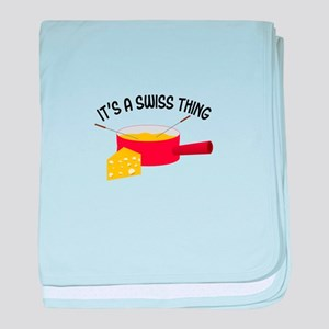ITS A SWISS THING baby blanket