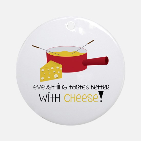 WitH CHeese! Ornament (Round)