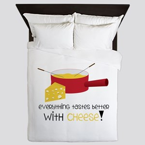WitH CHeese! Queen Duvet