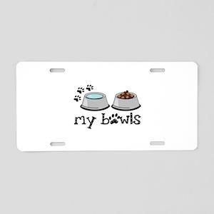my bowls Aluminum License Plate
