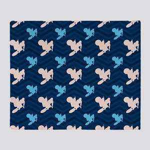 Blue and Tan Chevron Motocross Throw Blanket