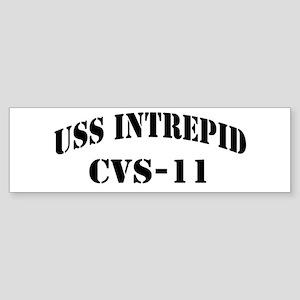 USS INTREPID Sticker (Bumper)