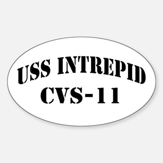 USS INTREPID Sticker (Oval)