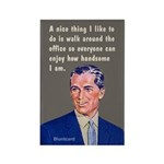 Handsome Around The Office, By Bluntcard Magnets