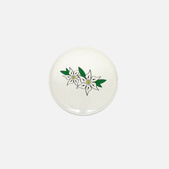 Edelweiss Mini Button
