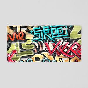 Graffiti Wall Aluminum License Plate