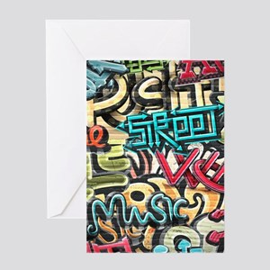 Graffiti Wall Greeting Cards