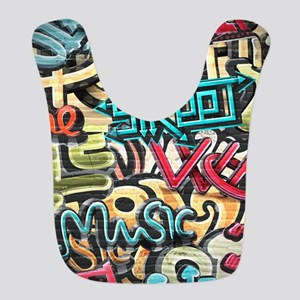 Graffiti Wall Bib