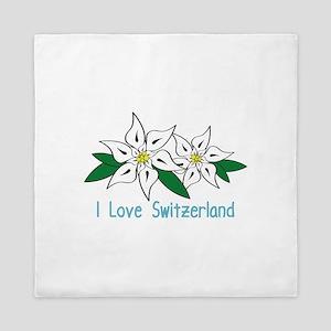 I Love Switzerland Queen Duvet