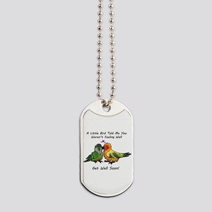Get Well Soon Dog Tags