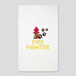 FIRE FIGHTER 3'x5' Area Rug