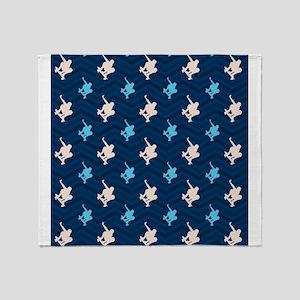 Blue and Tan Chevron Skater Throw Blanket