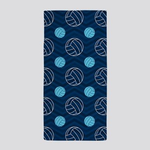 Blue and Tan Chevron Volleyball Beach Towel
