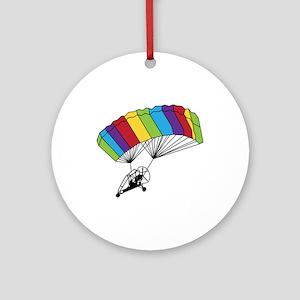 Powered Parachute Ornament (Round)