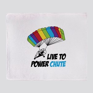 LIVE TO POWER CHUTE Throw Blanket
