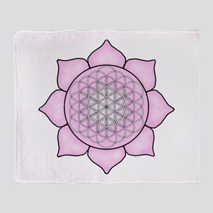 Lotus Pink2 Throw Blanket