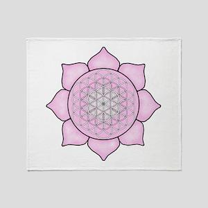 Lotus Pink2 Throw Blanket