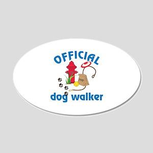 OFFICIAL dog walker Wall Decal
