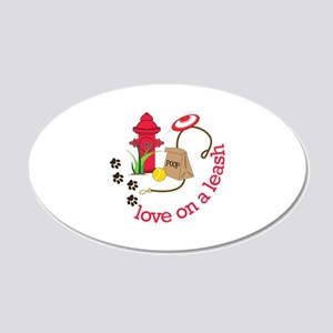love on a leash Wall Decal