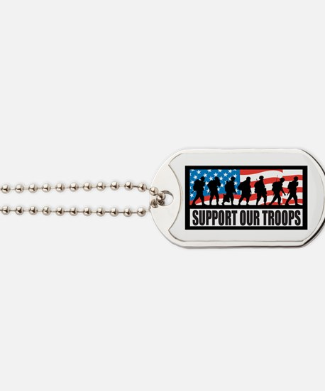 Support Our Troops - Infantry Dog Tags