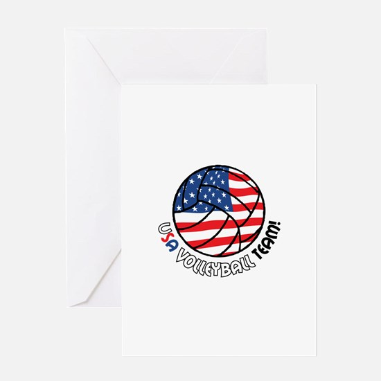USA VOLLEYBALL TEAM! Greeting Cards