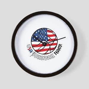 USA VOLLEYBALL TEAM! Wall Clock