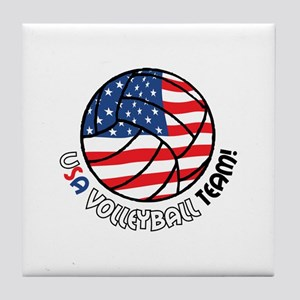 USA VOLLEYBALL TEAM! Tile Coaster