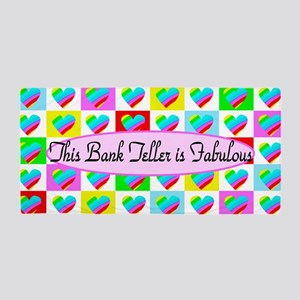 Pretty Bank Teller Beach Towel