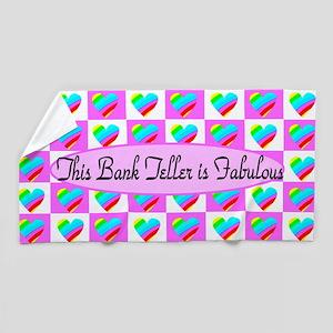 Bank Teller Love Beach Towel
