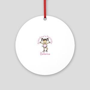 Grandmas Favorite Ballerina Ornament (Round)