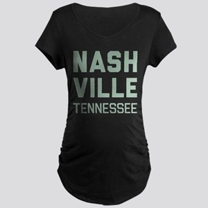 Nashville Tennessee Maternity Dark T-Shirt