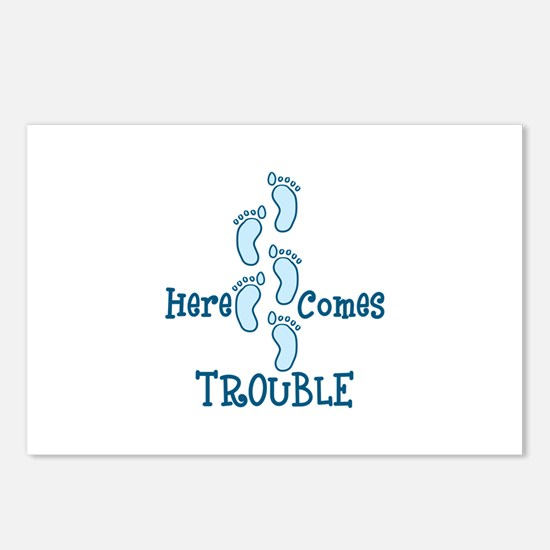 Here Comes Trouble Postcards (Package of 8)