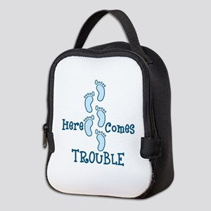 Here Comes Trouble Neoprene Lunch Bag