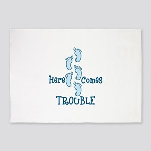 Here Comes Trouble 5'x7'Area Rug