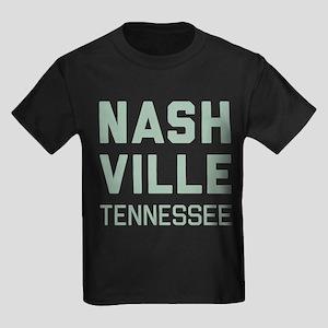 Nashville Tennessee Kids Dark T-Shirt