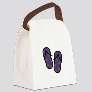 Beach Flip Flops Canvas Lunch Bag